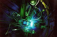 Internal components of a research reactor core