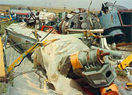 Contaminated scrap equipment, Al Jesira